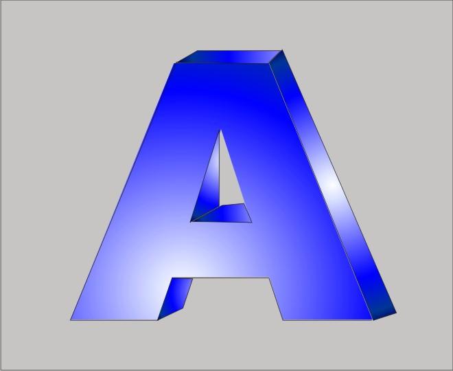 Объемная буква с покраской